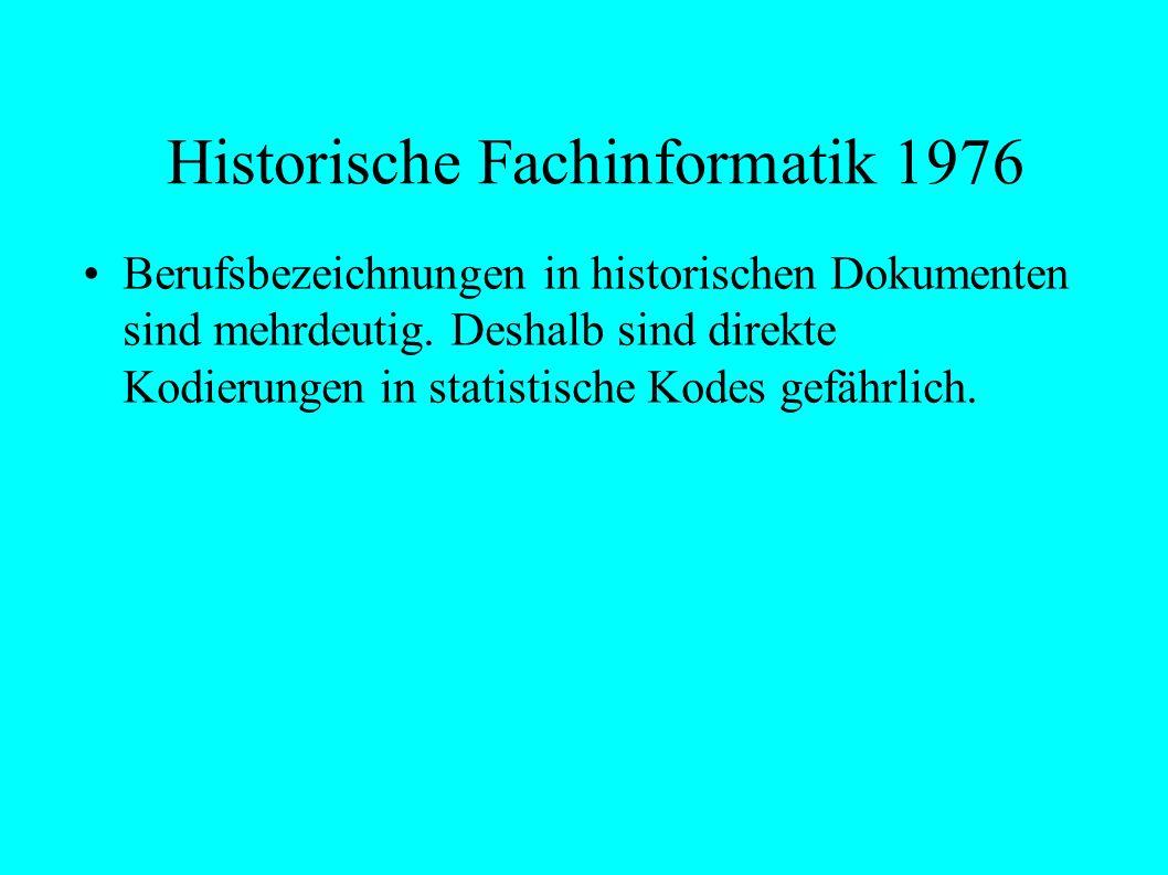 Historische Fachinformatik 1976