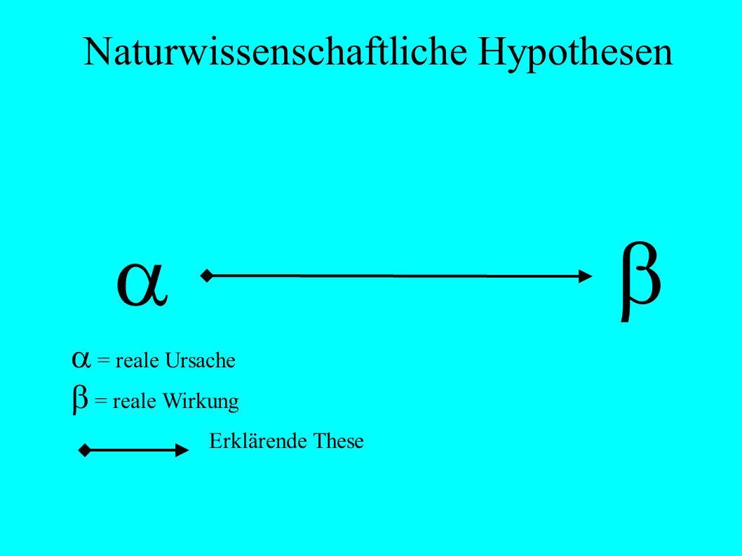 Naturwissenschaftliche Hypothesen