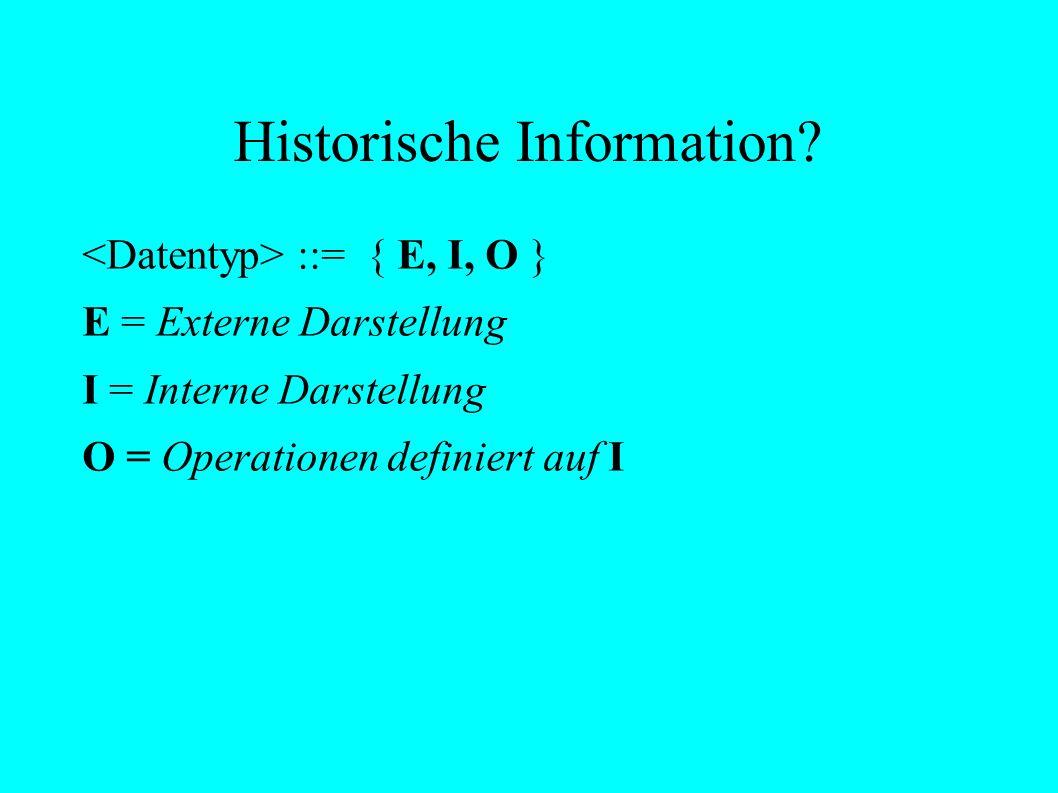 Historische Information