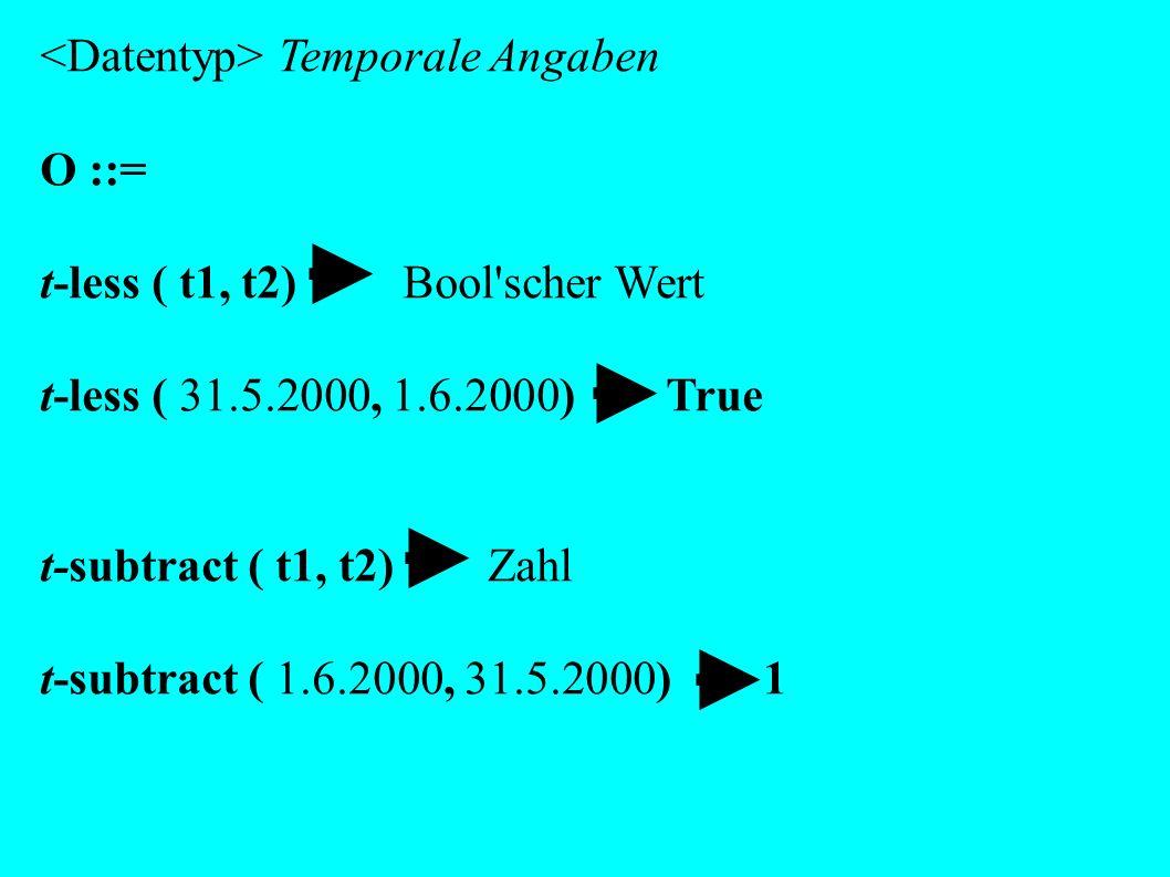 <Datentyp> Temporale Angaben O ::=