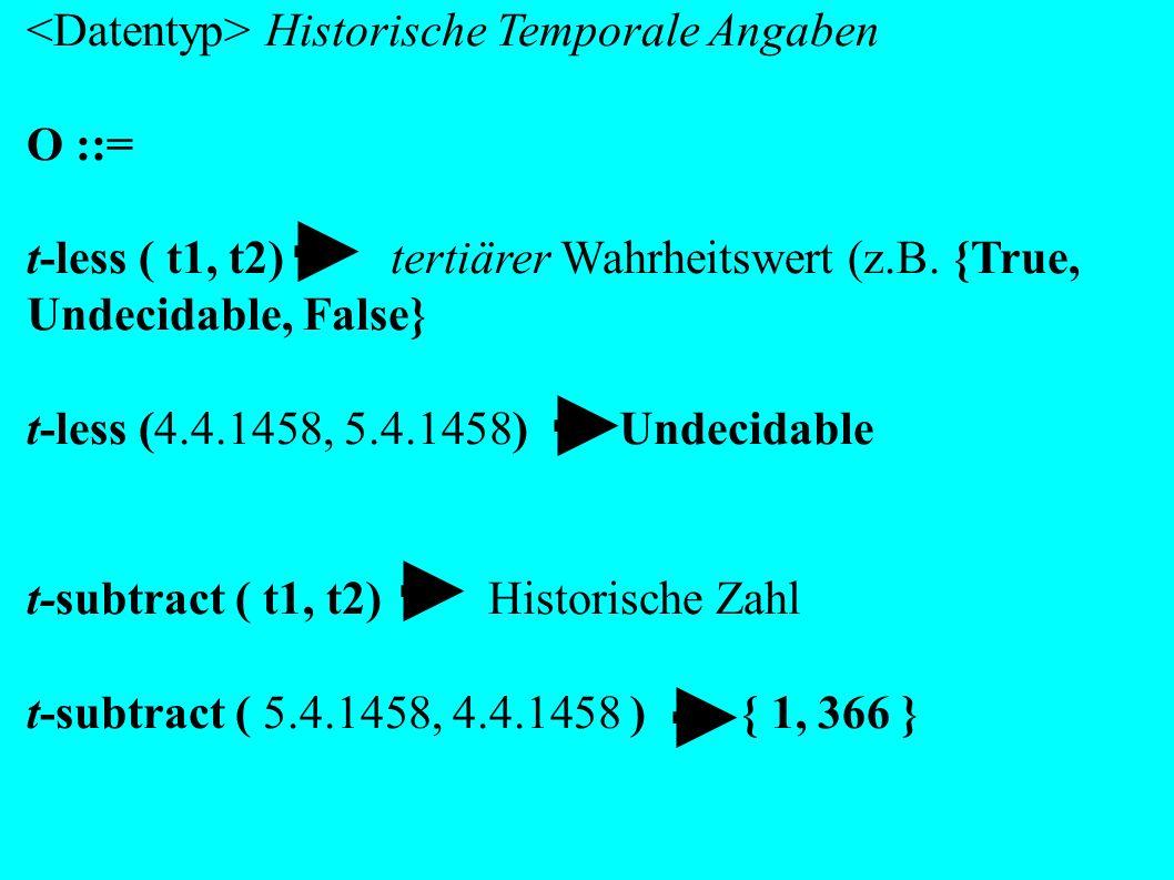 <Datentyp> Historische Temporale Angaben O ::=