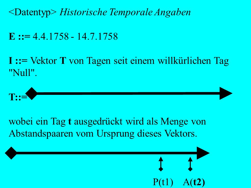<Datentyp> Historische Temporale Angaben