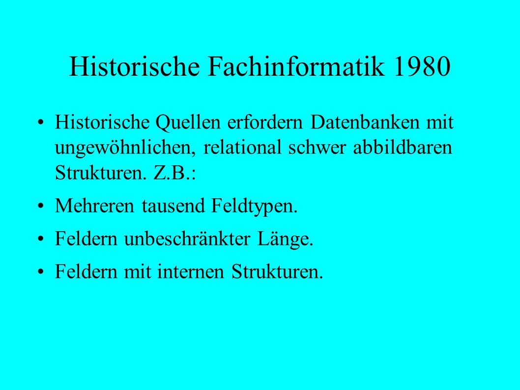 Historische Fachinformatik 1980