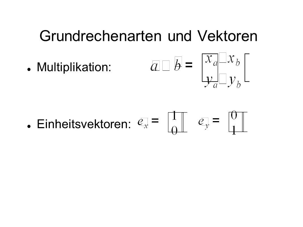 Grundrechenarten und Vektoren