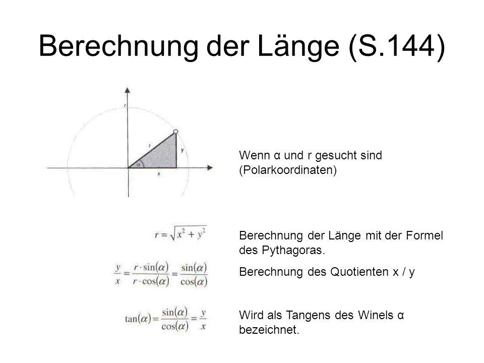 Berechnung der Länge (S.144)