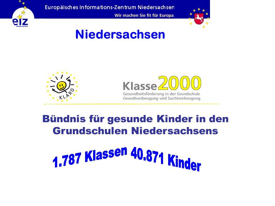 Bündnis für gesunde Kinder in den Grundschulen Niedersachsens