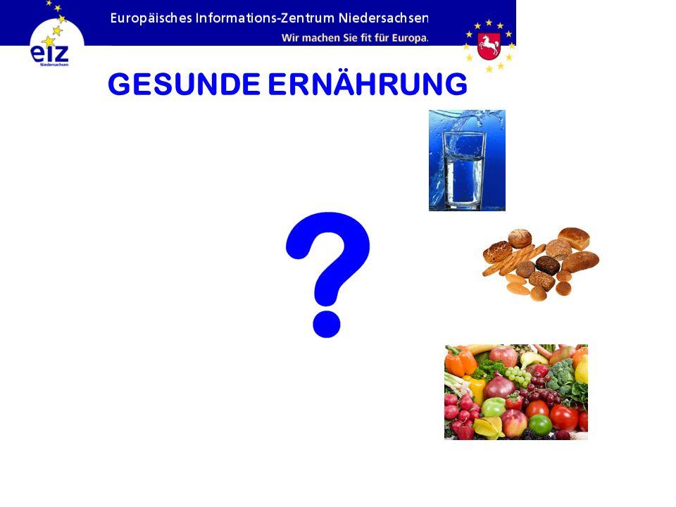 GESUNDE ERNÄHRUNG Obst und Gemüse: