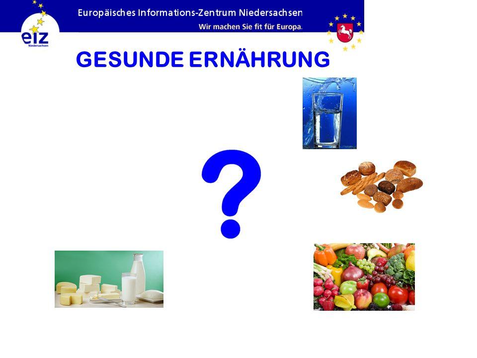 GESUNDE ERNÄHRUNG Milchprodukte, Fleisch und Fisch – Eiweiß: siehe nächste Folie
