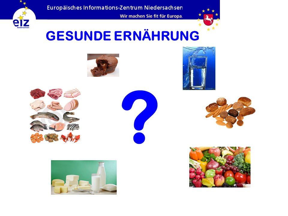 GESUNDE ERNÄHRUNG Fette und Zucker: