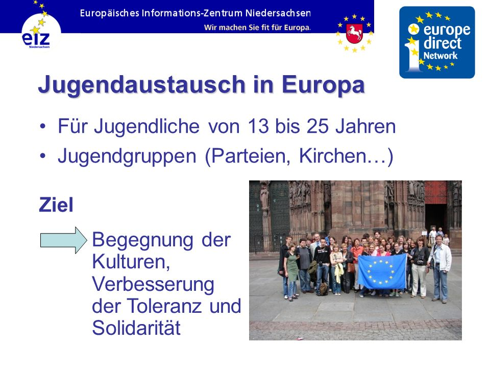 Jugendaustausch in Europa