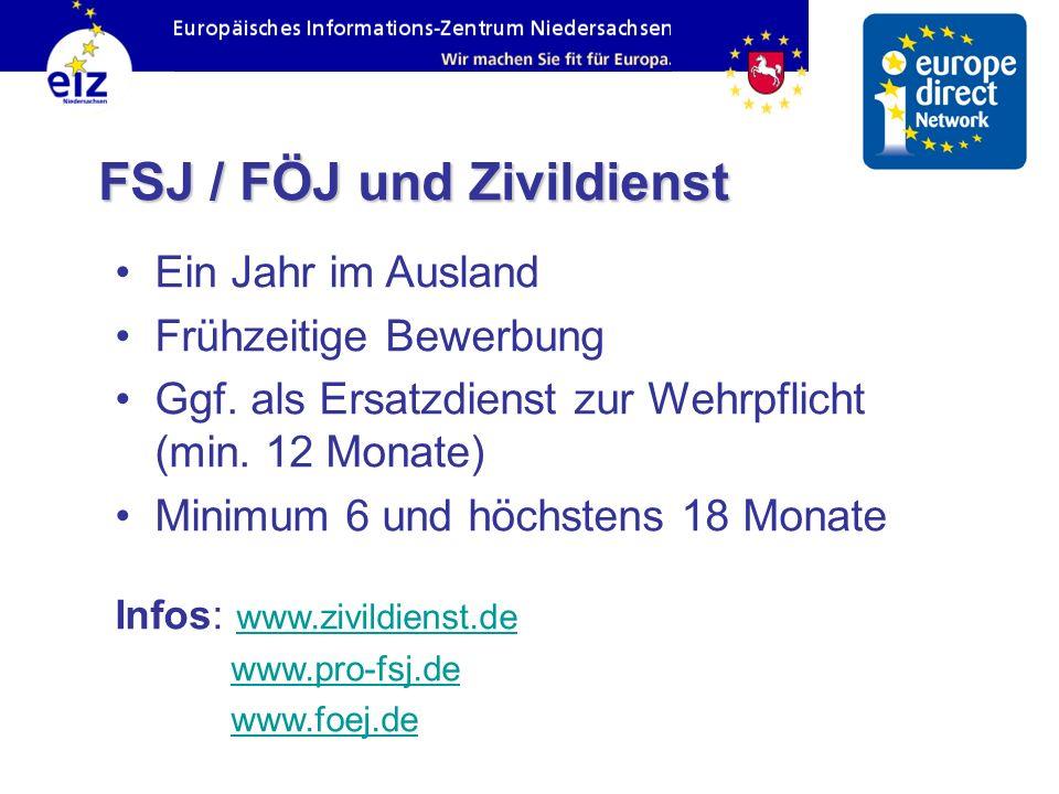 FSJ / FÖJ und Zivildienst