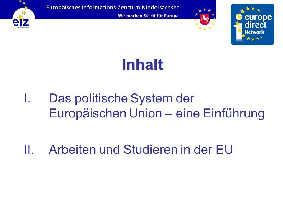 Inhalt Das politische System der Europäischen Union – eine Einführung