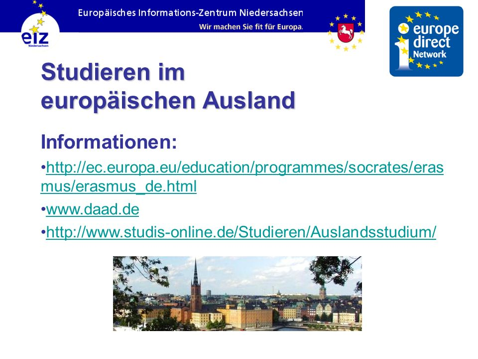 Studieren im europäischen Ausland