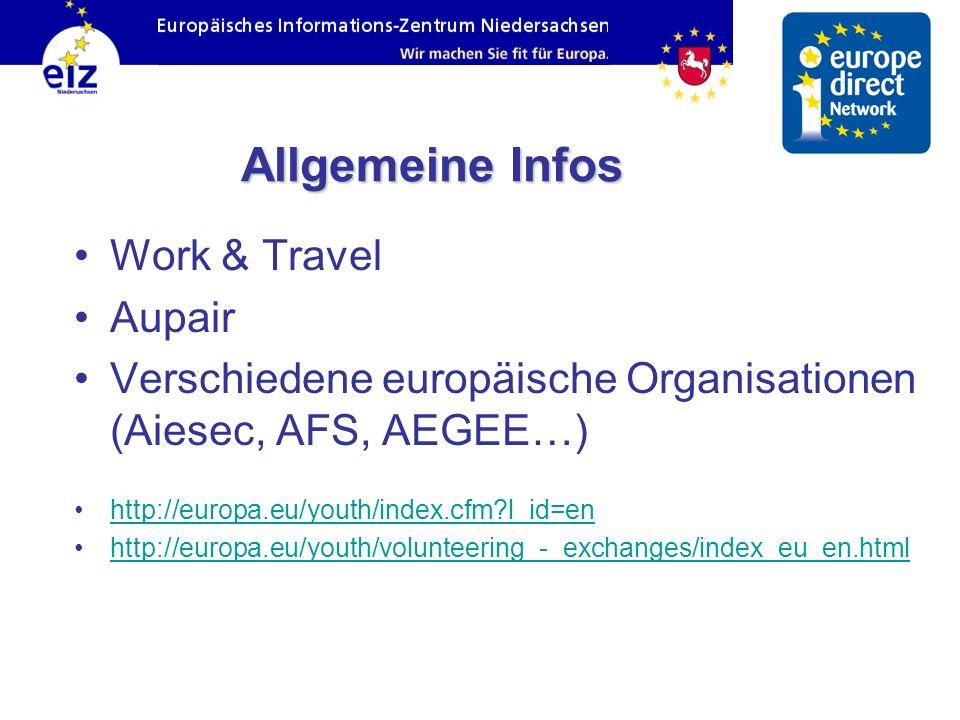 Allgemeine Infos Work & Travel Aupair