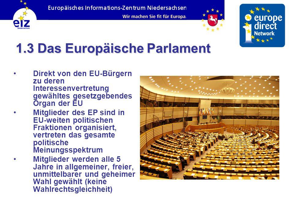 1.3 Das Europäische Parlament