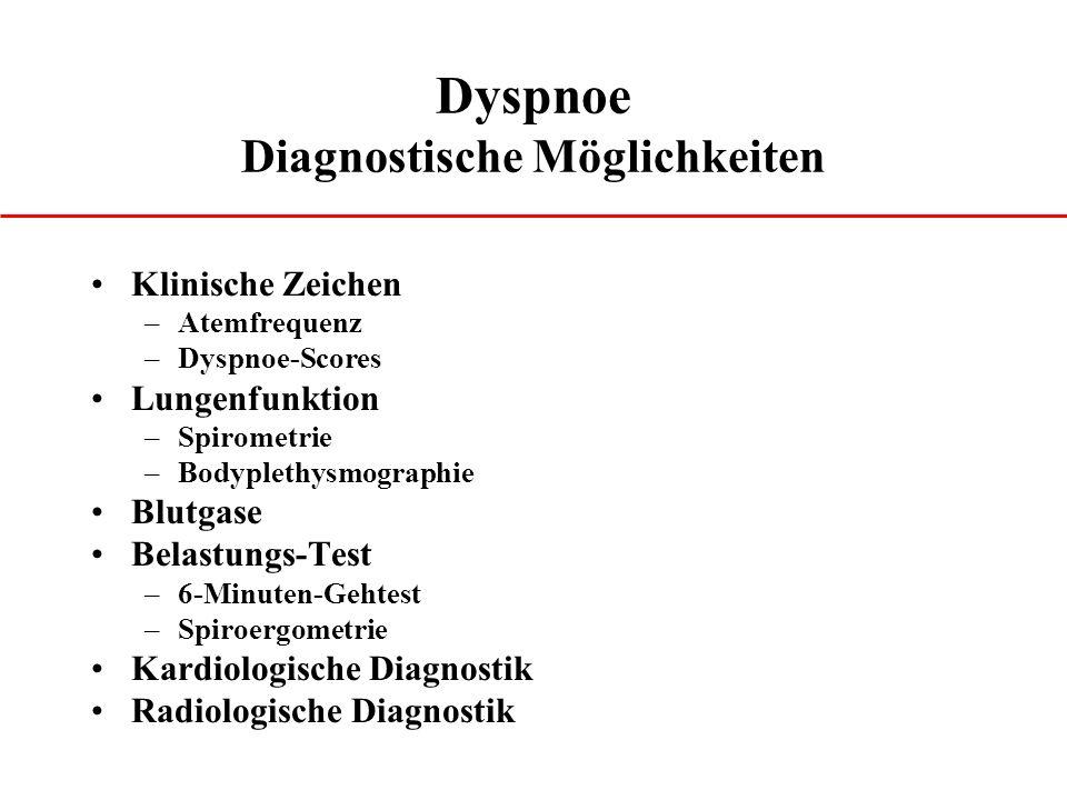 Dyspnoe Diagnostische Möglichkeiten
