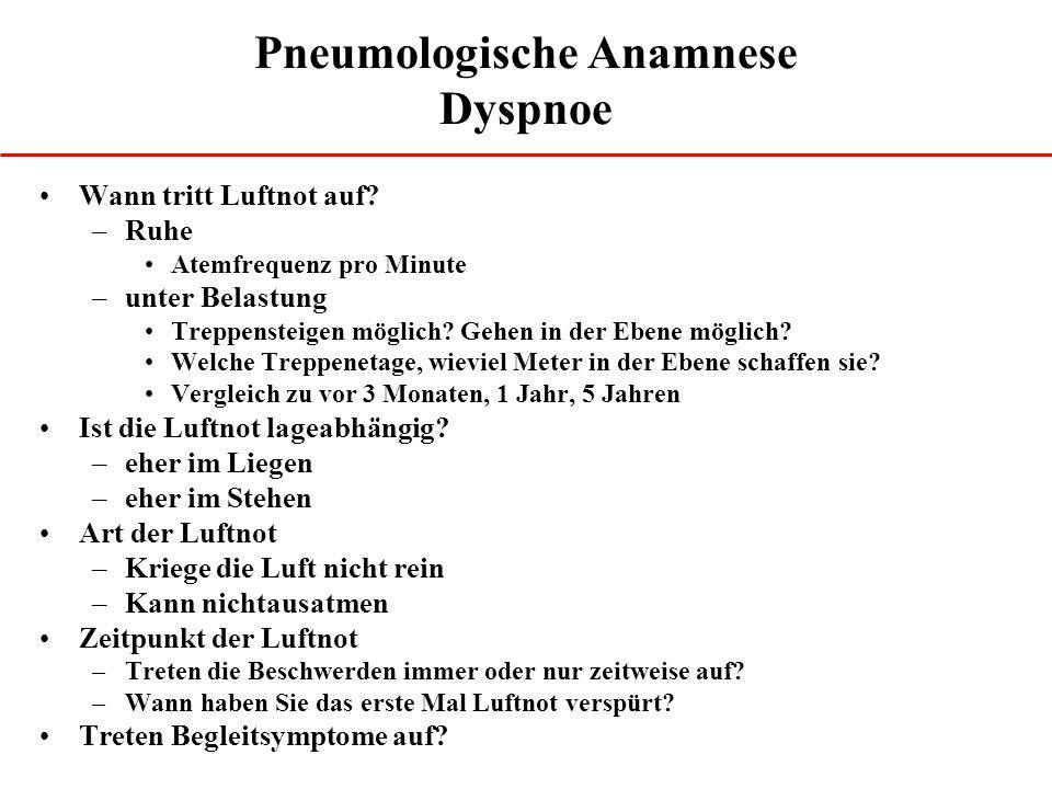 Pneumologische Anamnese Dyspnoe