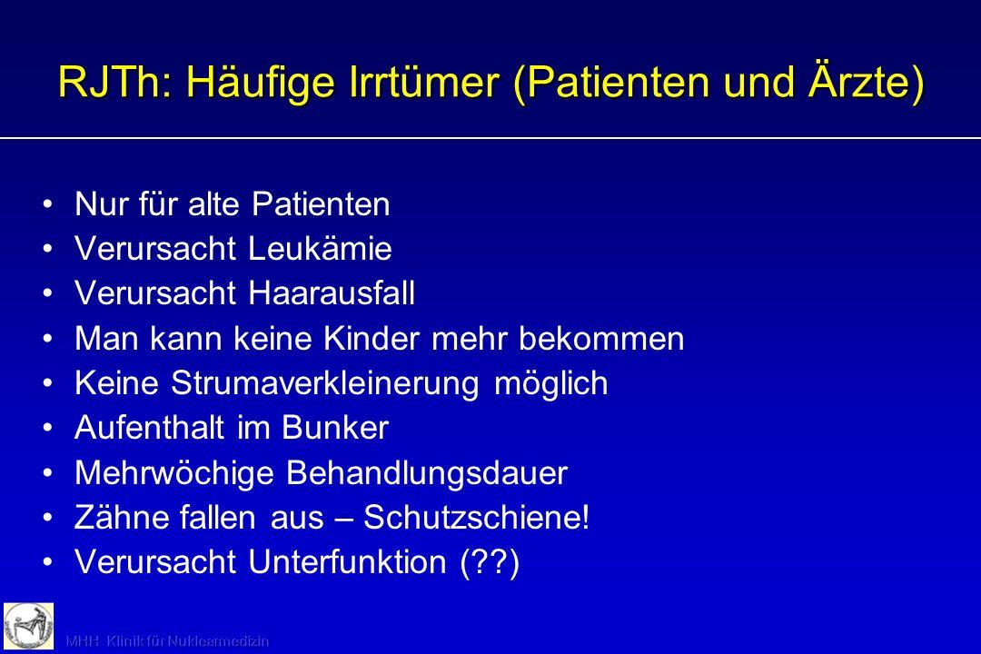 RJTh: Häufige Irrtümer (Patienten und Ärzte)