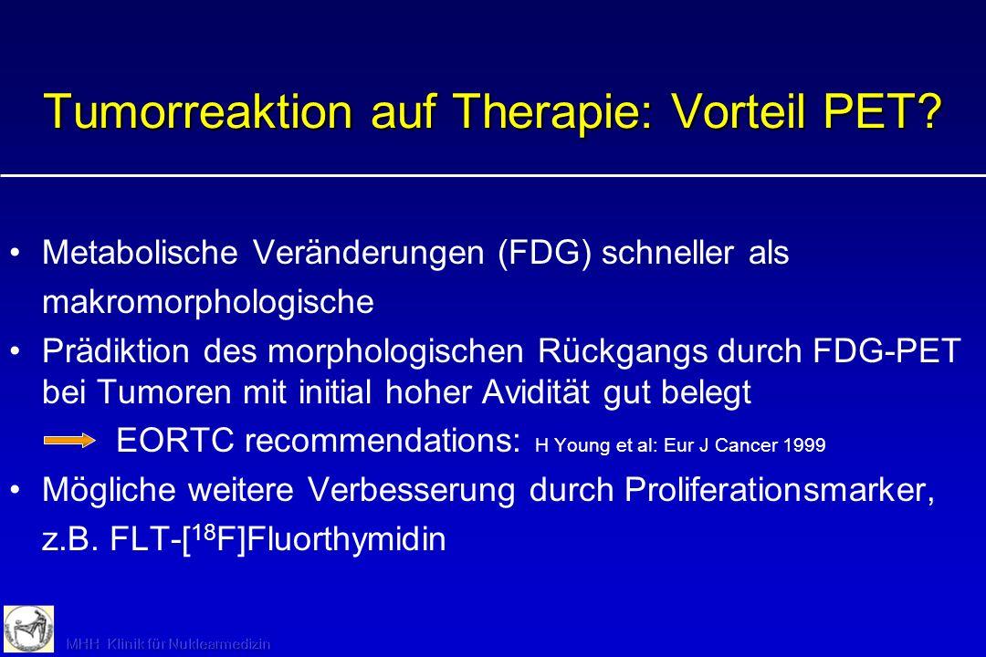 Tumorreaktion auf Therapie: Vorteil PET