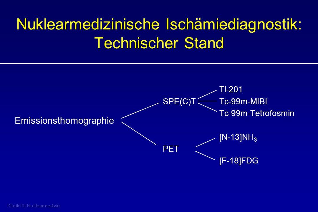 Nuklearmedizinische Ischämiediagnostik: Technischer Stand