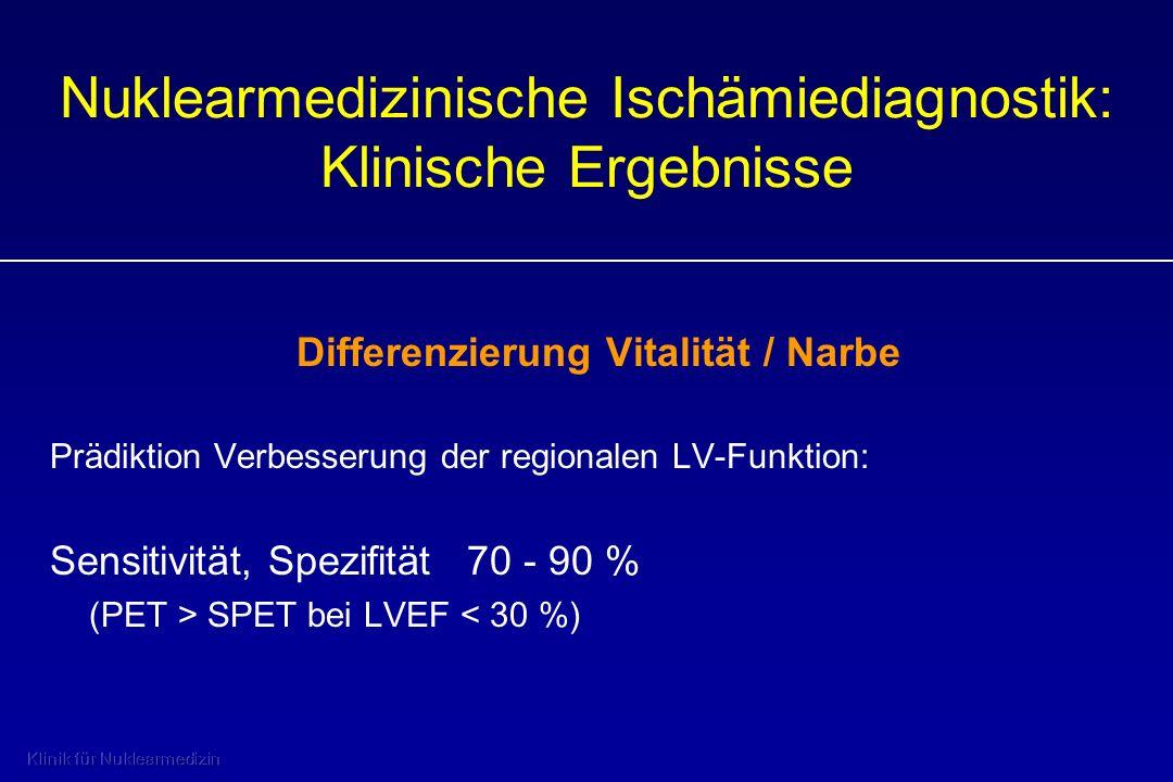 Nuklearmedizinische Ischämiediagnostik: Klinische Ergebnisse