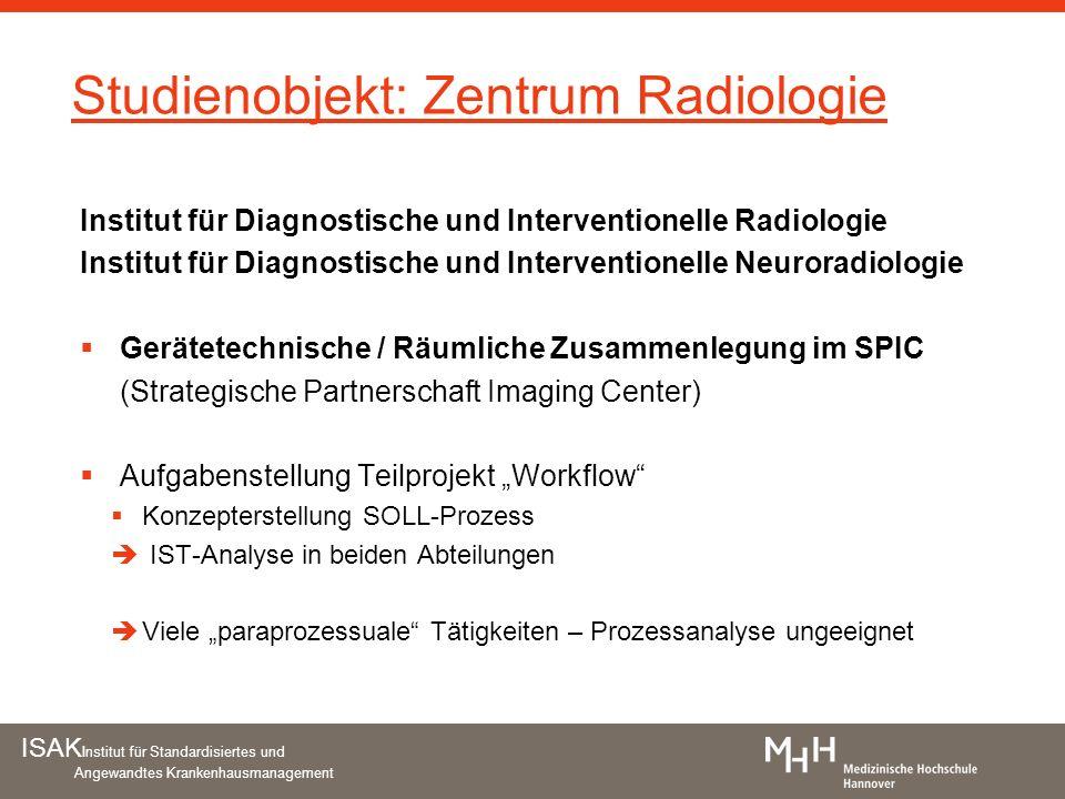 Studienobjekt: Zentrum Radiologie