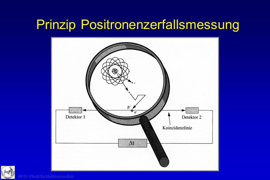 Prinzip Positronenzerfallsmessung