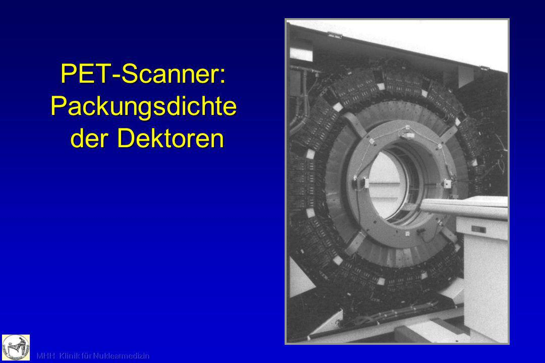 PET-Scanner: Packungsdichte der Dektoren