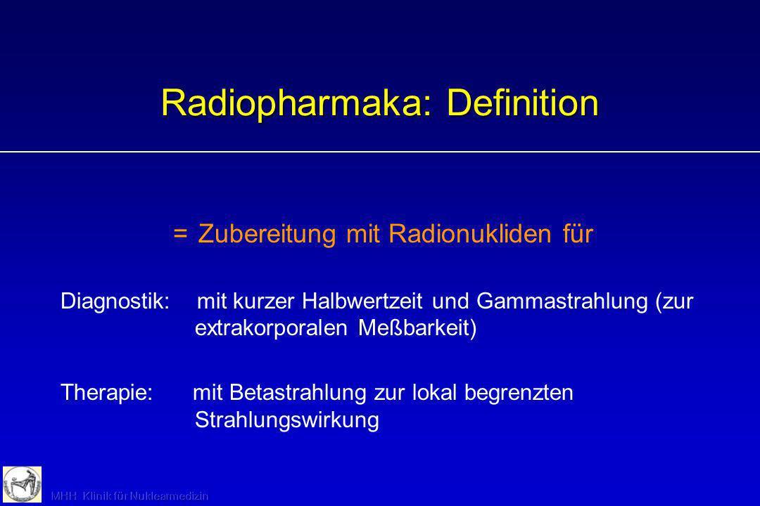 Radiopharmaka: Definition