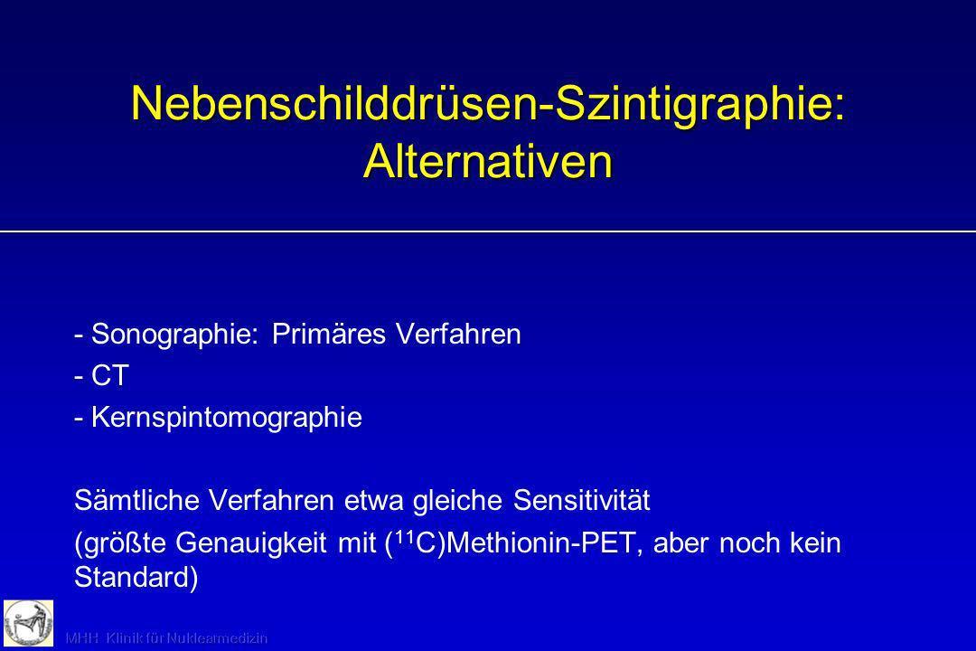 Nebenschilddrüsen-Szintigraphie: Alternativen