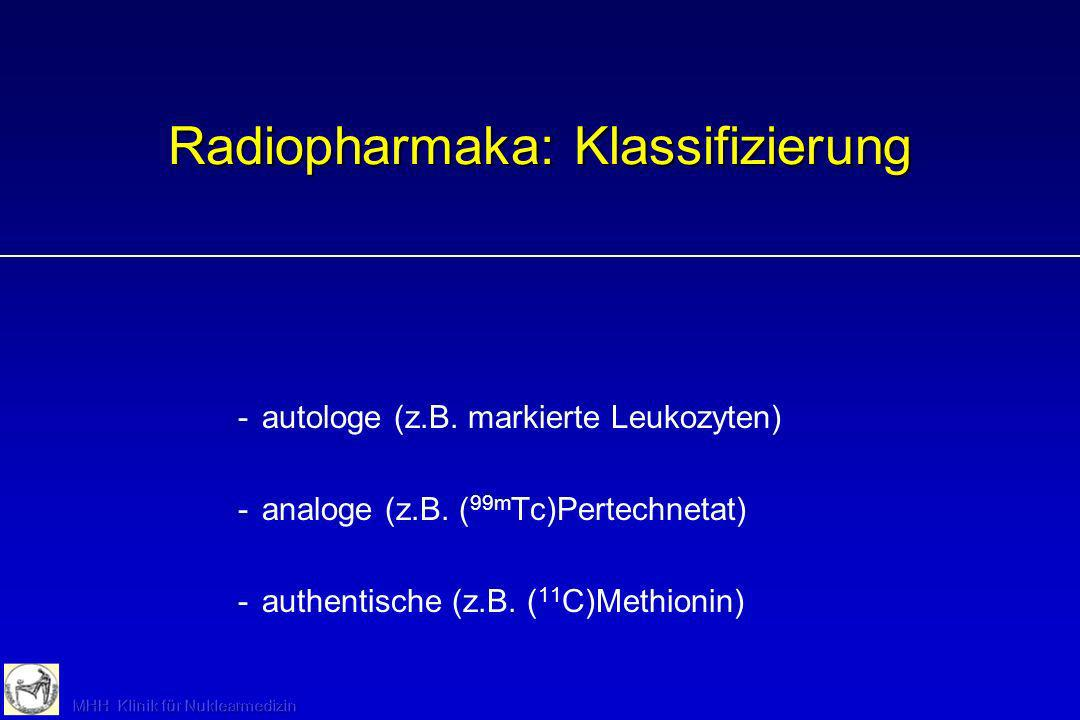 Radiopharmaka: Klassifizierung