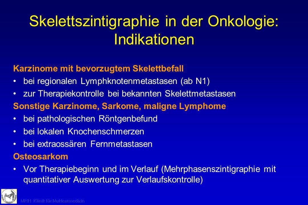 Skelettszintigraphie in der Onkologie: Indikationen