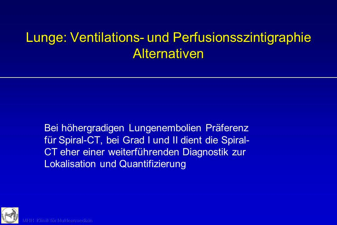 Lunge: Ventilations- und Perfusionsszintigraphie Alternativen