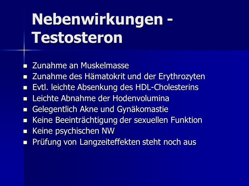 Nebenwirkungen - Testosteron