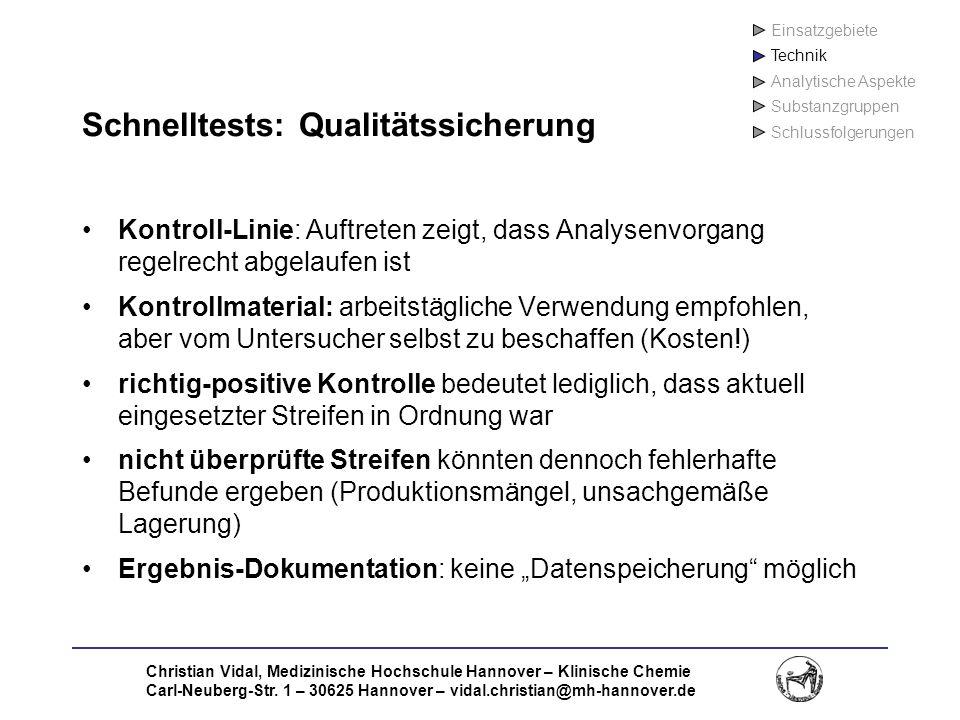 Schnelltests: Qualitätssicherung