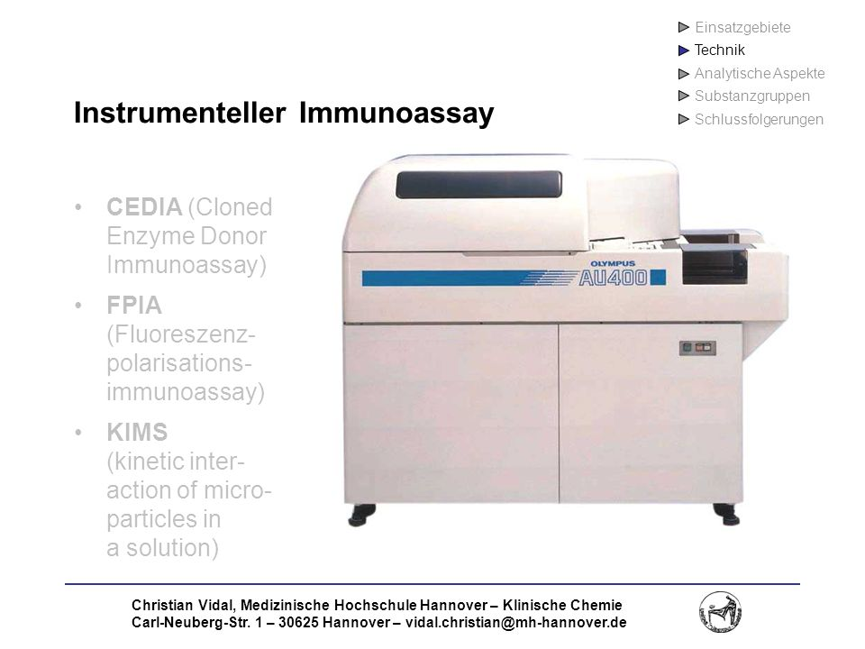 Instrumenteller Immunoassay