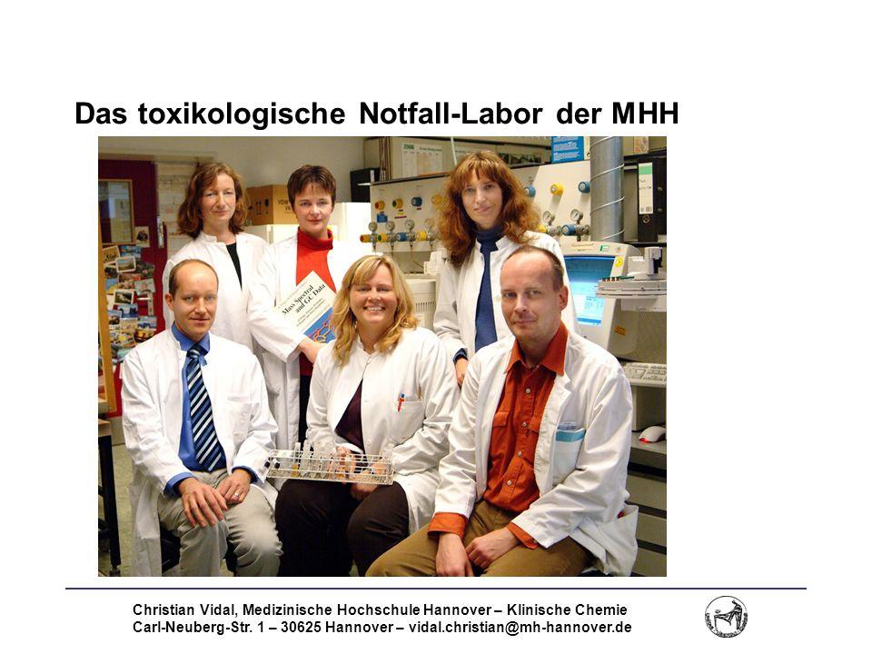 Das toxikologische Notfall-Labor der MHH