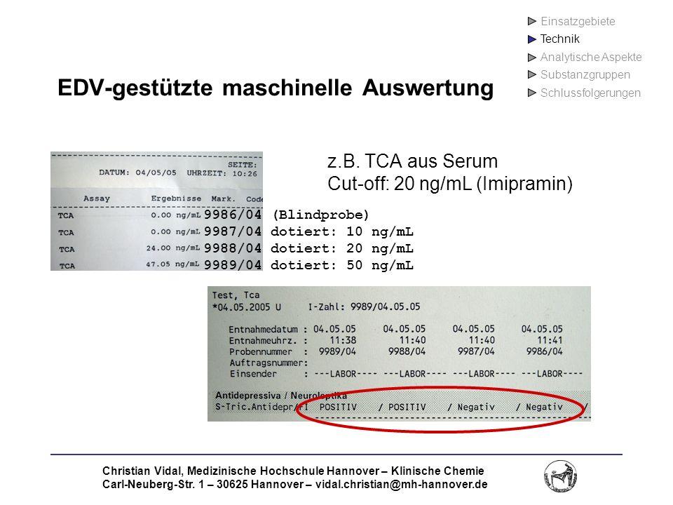 EDV-gestützte maschinelle Auswertung
