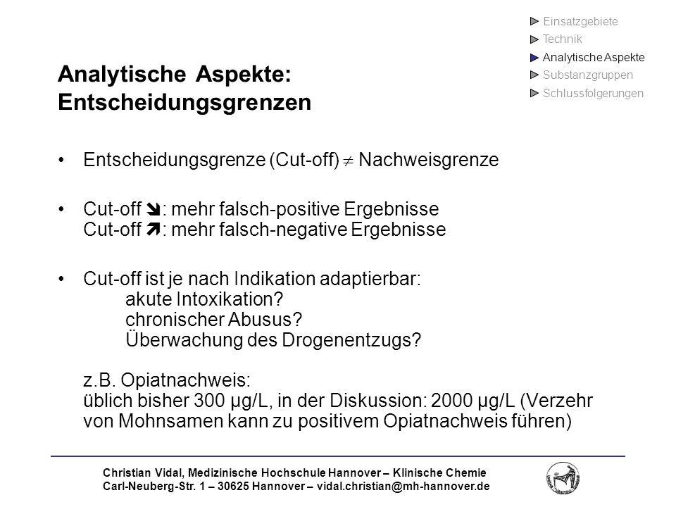 Analytische Aspekte: Entscheidungsgrenzen