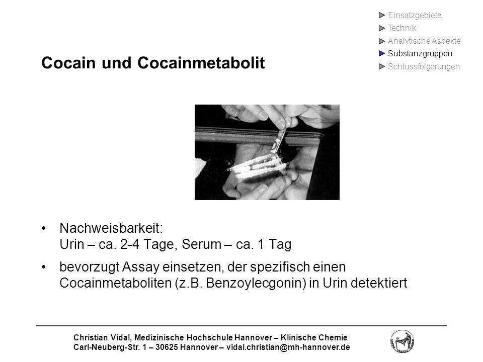 Cocain und Cocainmetabolit