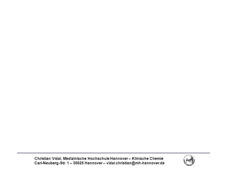 Christian Vidal, Medizinische Hochschule Hannover – Klinische Chemie