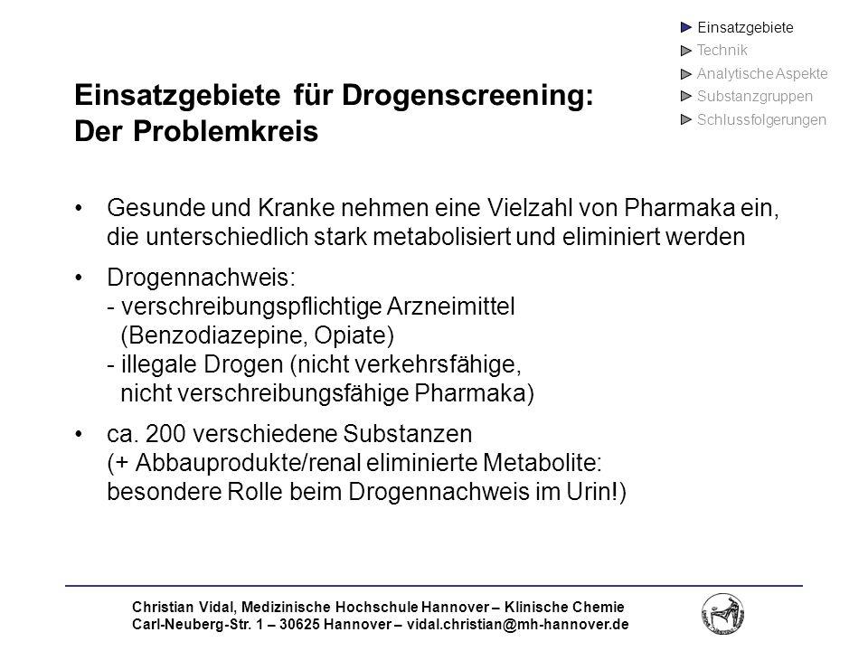 Einsatzgebiete für Drogenscreening: Der Problemkreis