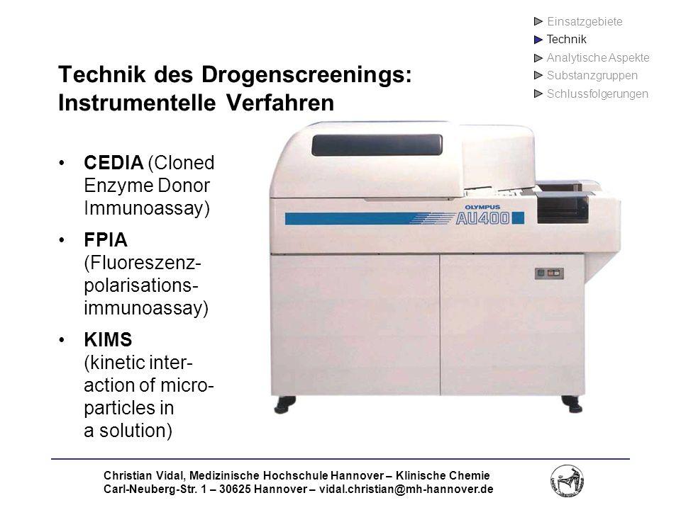Technik des Drogenscreenings: Instrumentelle Verfahren