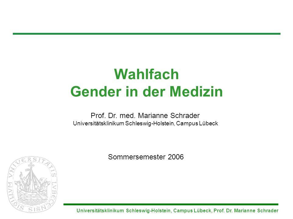 Wahlfach Gender in der Medizin