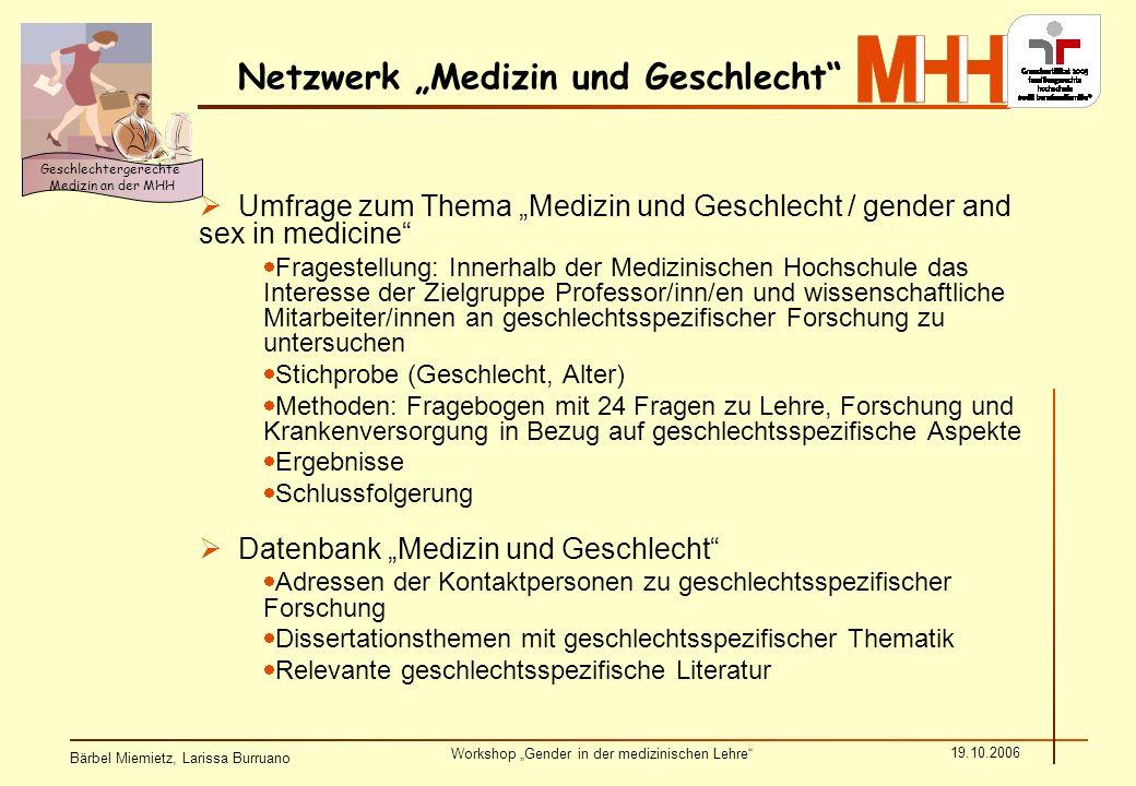 """Netzwerk """"Medizin und Geschlecht"""