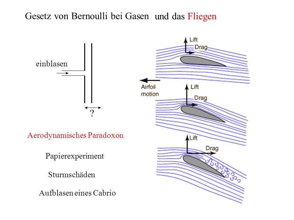 Gesetz von Bernoulli bei Gasen