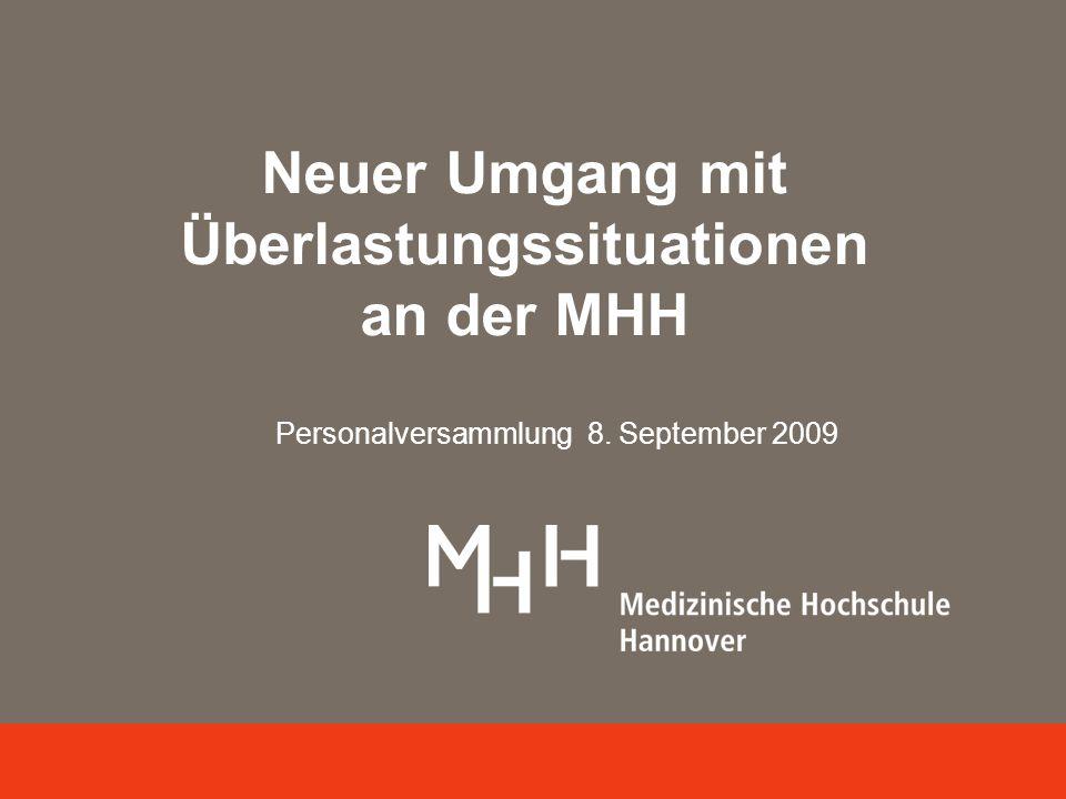 Neuer Umgang mit Überlastungssituationen an der MHH