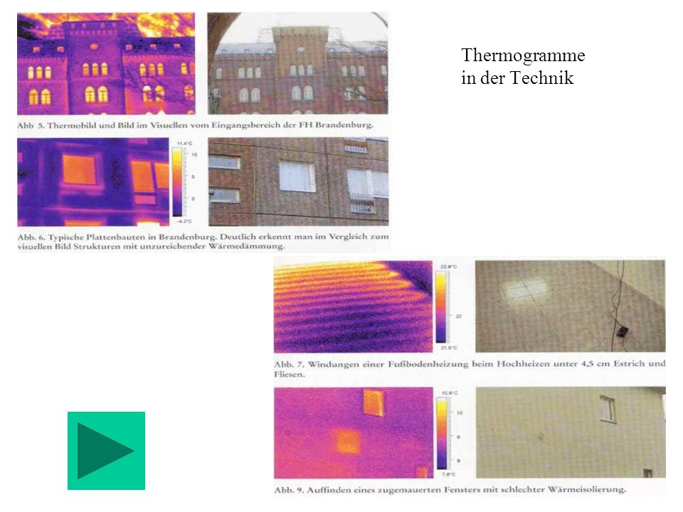 Thermogramme in der Technik