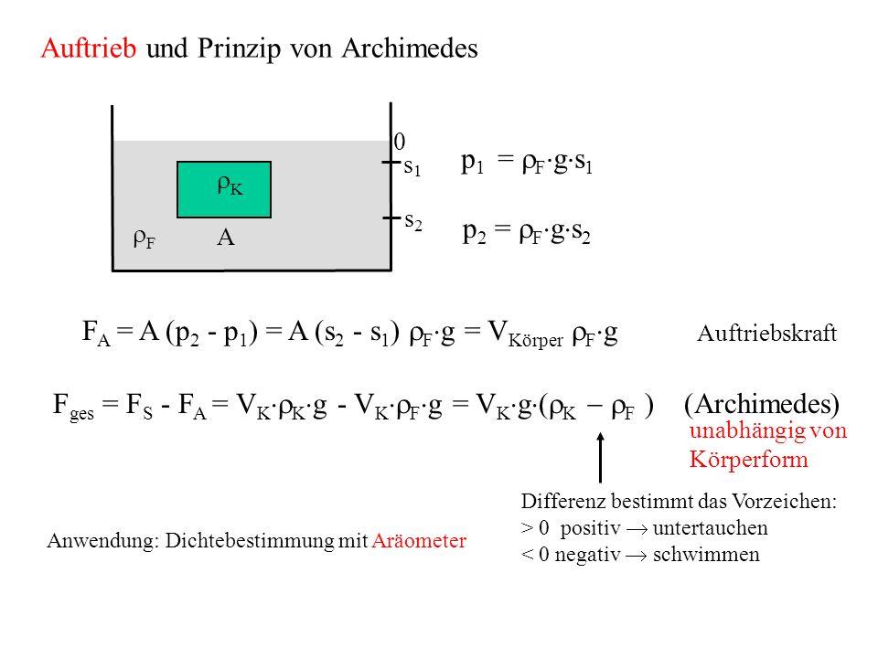 Auftrieb und Prinzip von Archimedes