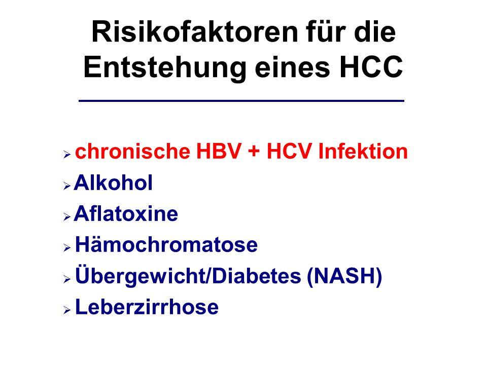 Risikofaktoren für die Entstehung eines HCC